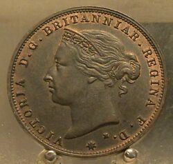 1877 H Jersey Bronze 1/24 Shilling Old World Coin