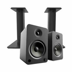 Kanto Yu6 Powered Bookshelf Speakers With Bluetooth With Sp9 Desktop Stands