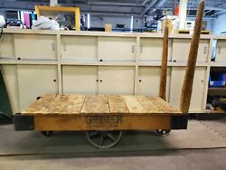 Gopher Floor Truck Industrial 1900and039s Antique Railroad Cart Or Coffee Table
