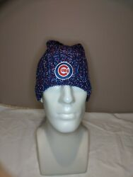 Chicago Cubs Winter Hat Cap Beanie Skully Jim Beam Cool Red White Blue Knit