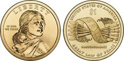 2010 Pandd Native American Indian 1 Dollar Mint Coin Sacagawea Great Law Of Peace