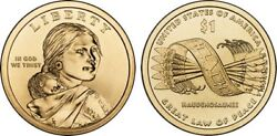 2010 D Native American One Dollar Mint Coin Sacagawea Great Law Of Peace Money