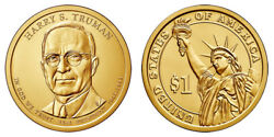 2015 D Harry S. Truman Presidential One Dollar Coins From U.s. Mint Rolls Money