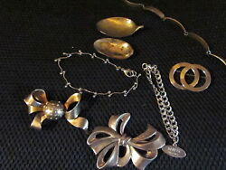 Vintage Sterling Silver Jewelry, Brooches, Spoons, Bracelets 1850's-1960's