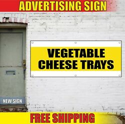 Vegetable Cheese Trays Banner Advertising Vinyl Sign Flag Food Service Catering