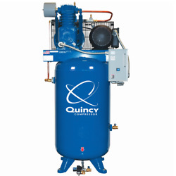 Quincy Qt Pro 7.5-hp 80-gallon Two-stage Air Compressor 208v 3-phase