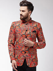 Men's Formal Jacket Waistcoat Front Button Closure Party Wear Top Tunic Xs-5xl