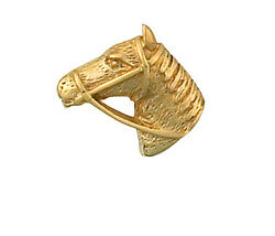 Horses Head Tie Tack Tie Pin Yellow Gold Made In Jewellery Quarter Bham