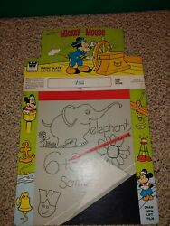 Vintage 1960's Mickey Mouse Magic Slate Retail Toy Store Display Sign Poster