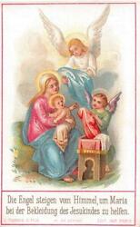 Old Nice Rare Print Holy Cards From 19th H12039 Holy Guardian Angel