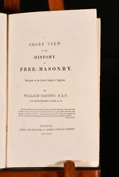 1829 A Short View Of The History Of Free-masonry William Sandys Uncommon 1st