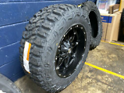 20x10 Fuel Hostage 35 Mt Black Wheels Rims And Tire Package 5x5 Jeep Gladiator Jt