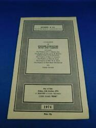 Sotheby And Co Catalog 1974 English Furniture Rugs Carpets Vintage