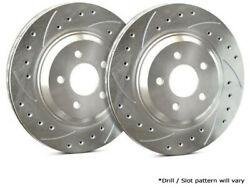 Sp Performance Rear Rotors For 1982 Camaro   Drilled And Slotted W/ Zinc F55-51-p