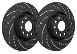 Sp Front Rotors For 1991 Impulse | Drilled Slotted Black F04-2124-bp8636