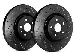 Sp Front Rotors For 2003 Neon Witout Abs Brakes | Drilled Black C53-97-bp8857