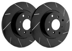 Sp Front Rotors For 1984 190d W/ Solid Front Disc | Slotted Black T28-0614-bp
