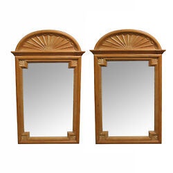 Pair Of La Barge Carved Pine Georgian Style Mirrors
