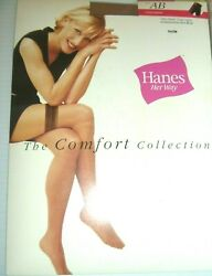 VINTAGE HANES HER WAY THIGH HIGH STOCKINGS CUTE MODEL SIZE AB COLOR NUDE NIP