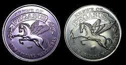 New Orleans Mardi Gras Token Doubloons 2 Krewe Of Pegasus Quest For Freedom
