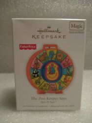 New 2010 Hallmark Ornament Fisher Price See 'n Say Zoo Keeper Sound Motion Fs