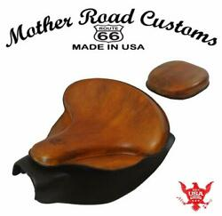 2014-21 Indian Chief Spring Seat Mounting Conversion Kit Pad Ant Tan Leather Bc