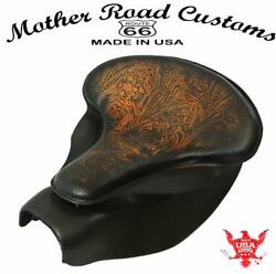 2014-2021 Indian Chief Custom Antbrn Tooled Leather Spring Seat Mounting Kit Bs
