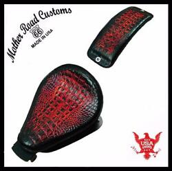 2004-2006 Sportster Harley Seat Pad Kit Ant Red Gator All Models Leather Usa Bc