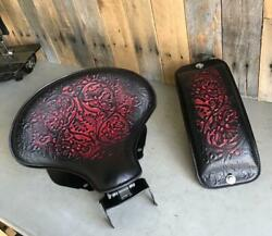 2018-2021 Harley Softail Spring Seat Pad Mounting Kit Ant Red Oak Leaf Leather