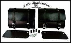 2015-2021 Indian Scout Saddle Bags Mounting Hardware Black Leather Made Usa Mrc