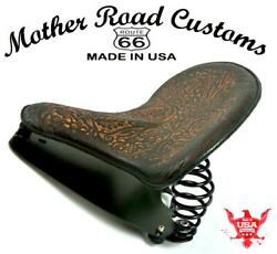2015-2021 Indian Scout And Bobber Spring Tractor Seat Ant Brown Oak Leaf Kit Bc