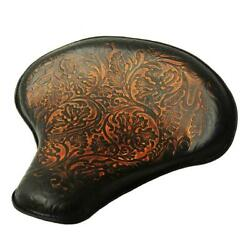 2017-2020 Triumph Bobber 15x14 Ant Red Oak Leaf Leather Solo Tractor Seat