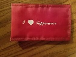 Vintage I love Tupperware Red Case Velcro Closure for Cell Phone Glasses Wallet