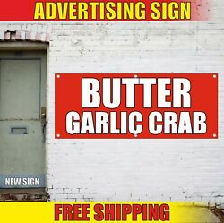 Butter Banner Advertising Vinyl Sign Flag Garlic Crab Cafe Fair Bar Deep Fried