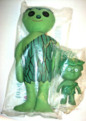 Vintage Lot Of 2 16 T Jolly Green Giant Rag Doll And 6 T Little Sprout Nrfp