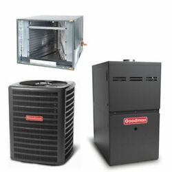 Goodman - 1.5 Ton Cooling - 80k Btu/hr Heating - Air Conditioner + Variable S...