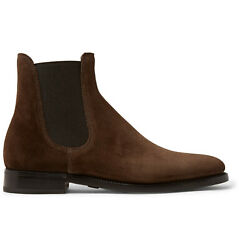 Purple Label Brown Suede Leather Penfield Chelsea Boots New 1250