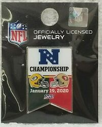 Wincraft Nfl Pin Green Bay Packers 49ers Gameday Championship 2020 Dovetail New