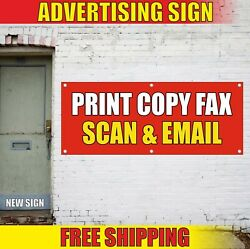 Print Copy Banner Advertising Vinyl Sign Flag Fax Scan Email Service Open Here