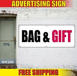 Bag And Gift Banner Advertising Vinyl Sign Flag Shop Service Wrapping Cards Flower