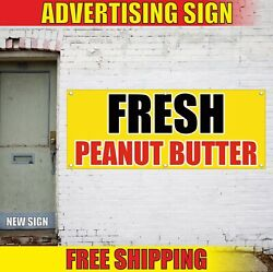 Peanut Butter Banner Advertising Vinyl Sign Flag Fresh Deep Fried Food Jelly Cup