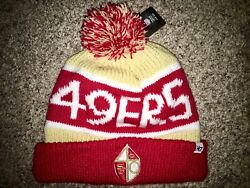 San Francisco 49ers Cuffed Pom Red Gold Beanie Nwt Quest For Six