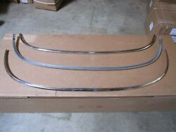 54 Corvette Windshield Frame Upper And Lower Channels With Molding New 53 55