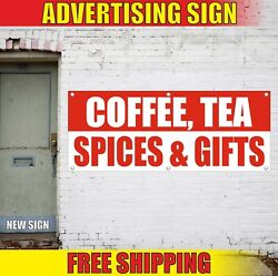 Spices Gifts Banner Advertising Vinyl Sign Flag Coffee Tea Shop Cards Wrapping