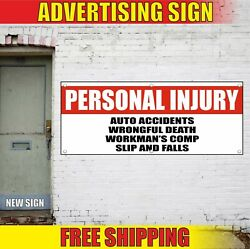 Personal Injury Banner Advertising Vinyl Sign Flag Auto Car Accidents Slip Falls