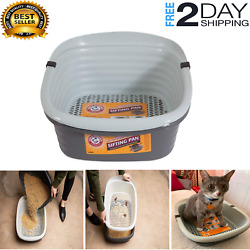 Pet Mate 42036 Arm And Hammer Large Sifting Litter Pan Box For Cat And Dog - Pet