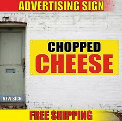 Chopped Cheese Banner Advertising Vinyl Sign Flag Plate Served Catering Food Now