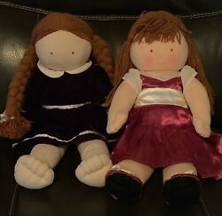 Pottery Barn Kids Vintage Red Haired Dolls Holly 181 And Allie Rose 941-euc