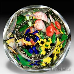 Rick Ayotte 2011 Andldquoforest Delightandrdquo Spotted Salamander Glass Paperweight