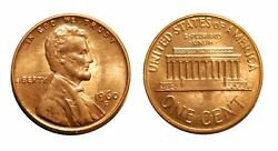 1960-d/d Lincoln Cent - Coneca Rpm-001 Fs-501 Uncirculated Bu Red 628